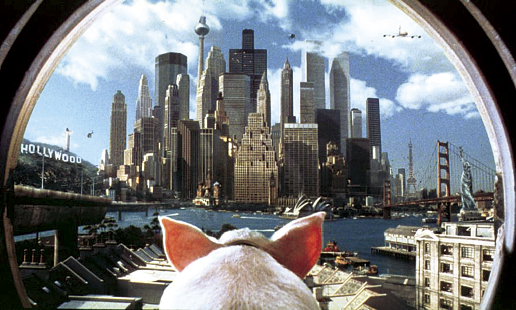 Films in London today: BABE PIG IN THE CITY at Oz Film Festival.