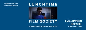 LUNCHTIME FILM SOCIETY Bridewell Theatre HALLOWEEN SPECIAL 31 Oct 2019