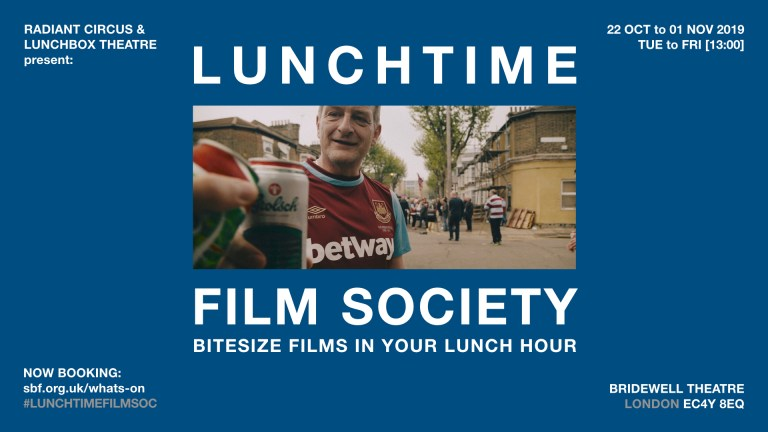LUNCHTIME FILM SOCIETY a new popup project cinema by RADIANT CIRCUS & Partners at the Bridewell Theatre