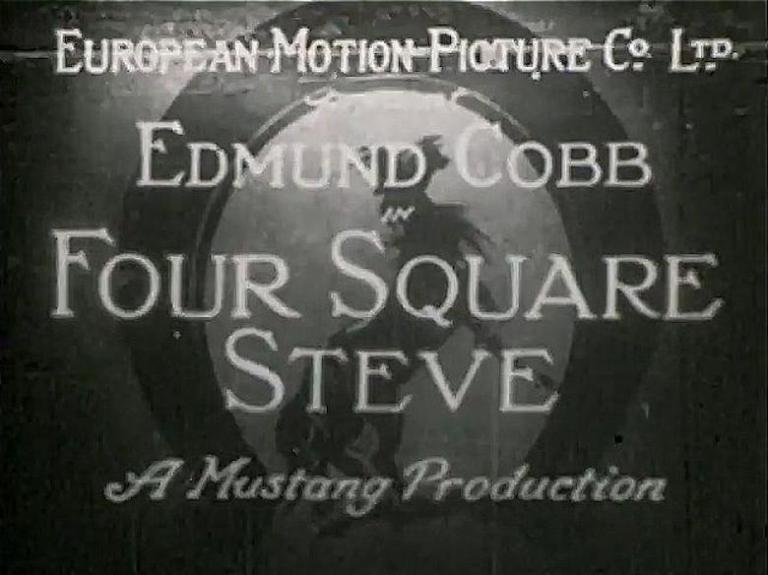 This is a film still from FOUR SQUARE STEVE showing the film's title card.
