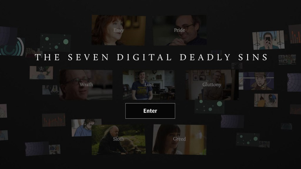 This is a promotional image for THE SEVEN DEADLY DIGITAL SINS (2014).