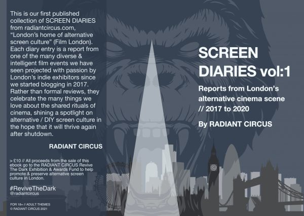 This is a screenshot of the cover of Screen Diaries Vol:1 from RADIANT CIRCUS.