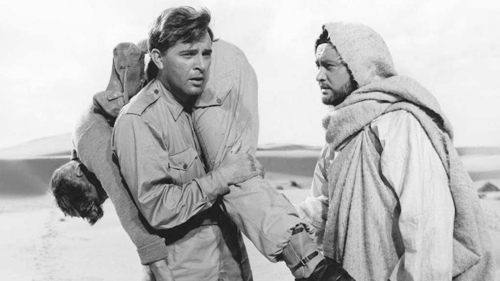This is a film still from BITTER VICTORY (1958) screening at BFI Southbank today.