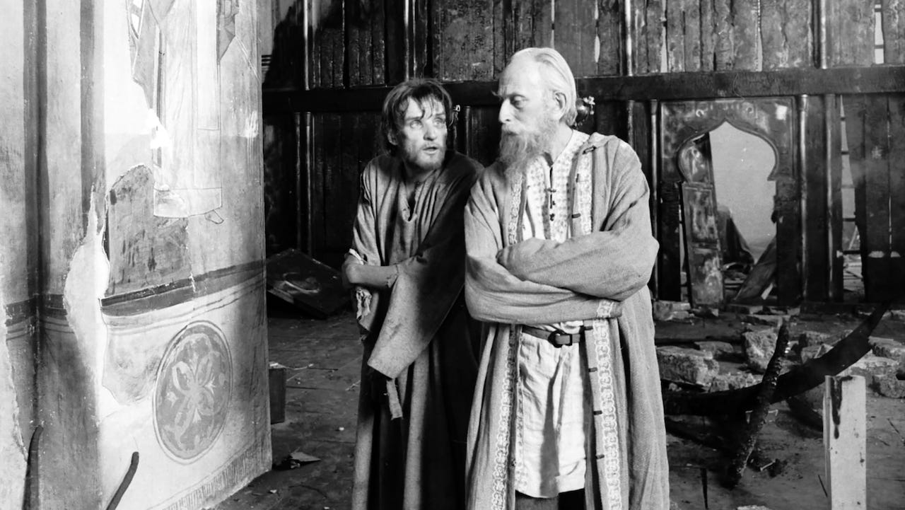 This is a film still from ANDREI RUBLEV, screening at Close-Up Film Centre today (25 July 2021).