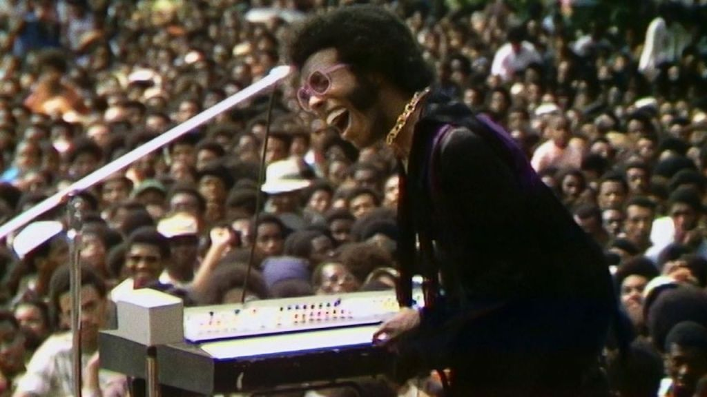 This is a film still from SUMMER OF SOUL (d. Questlove, 2021) which opens across London this week.