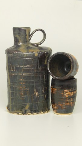 """""""Leather"""" Flask 8"""" x 4"""""""