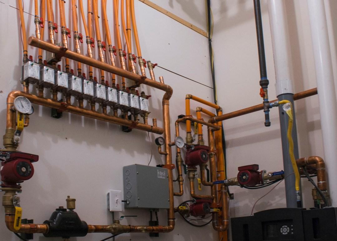 control panel boiler radiant heat