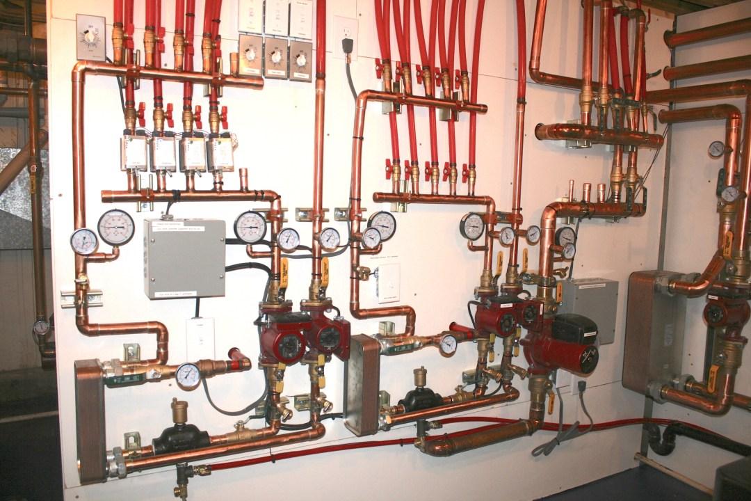 boiler room radiant heating system