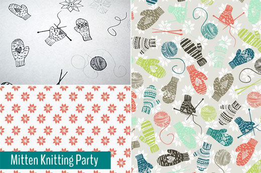 Sketchbook to Pattern | Mitten Knitting Party | Radiant Home Studio