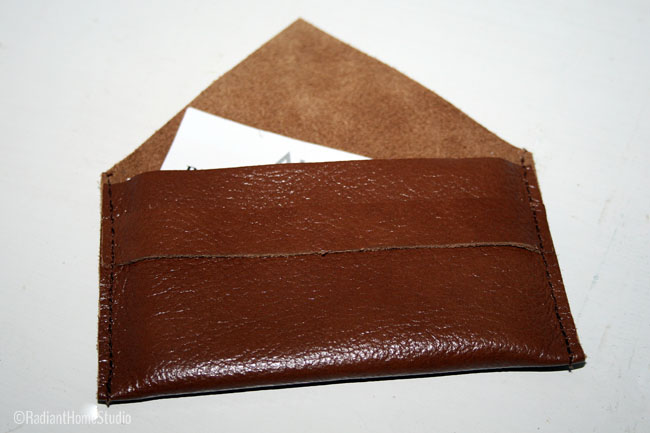 Leather Business Card Holder | Radiant Home Studio