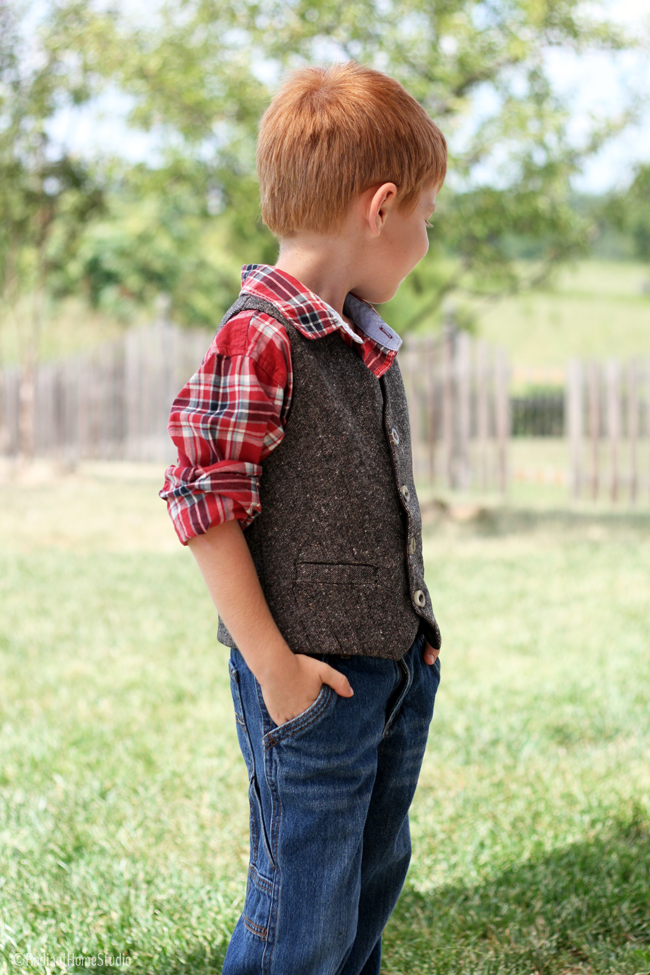 Tweed Schoolboy Vest | Pattern by SewMuch Ado |Radiant Home Studio