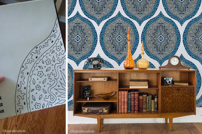 Intricate Chaos Wallpaper Design | Radiant Home Studio
