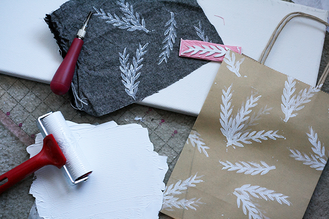 Hand-printed Christmas Ornament | Radiant Home Studio