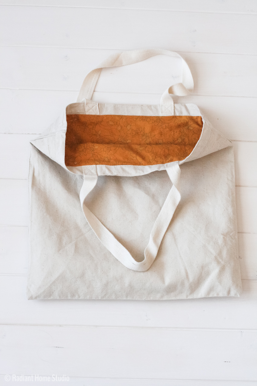 2 Ways to Add a Lining to a Tote Bag | Tote Bag Upgrade | Radiant Home Studio