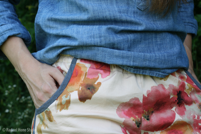 Watercolor Floral Prefontaine Shorts   Radiant Home Studio