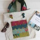 Kantha Stitched Tote Bag Pocket | Radiant Home Studio