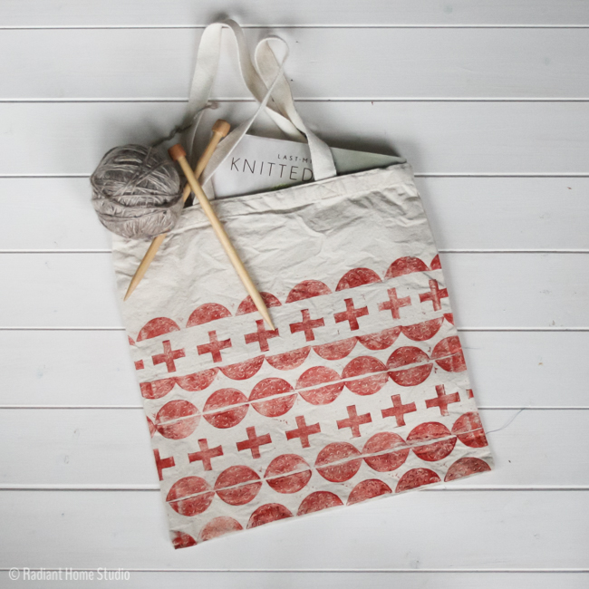 Hand Stamped Tote Bag Upgrade | Radiant Home Studio