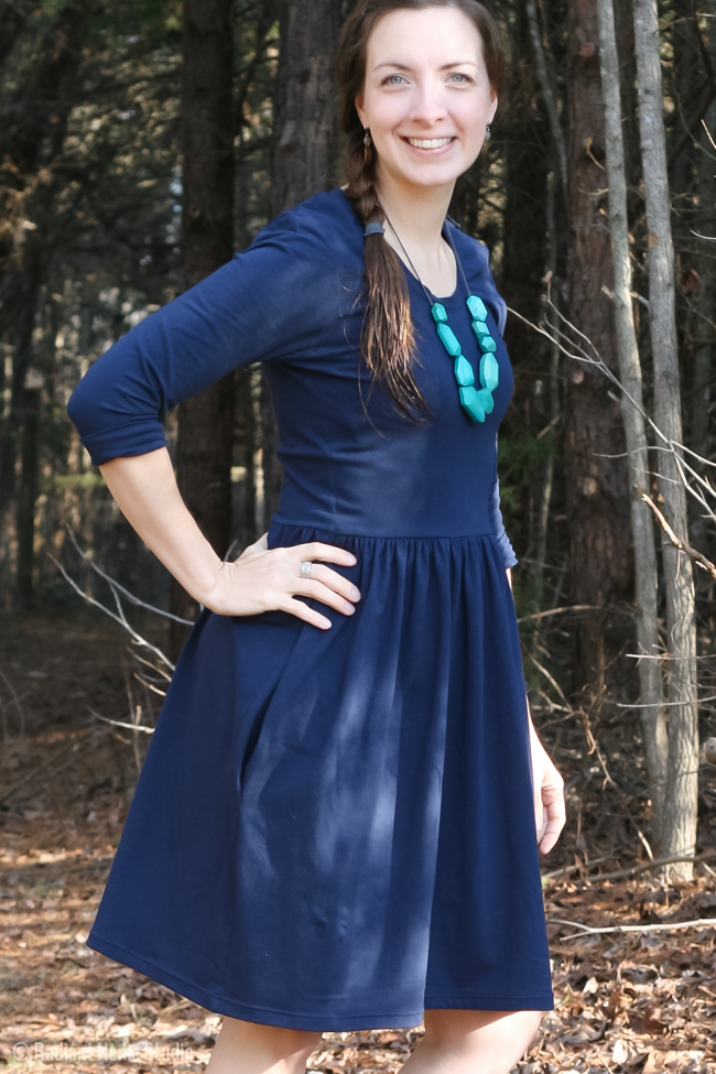 Blue Out and About Dress by Sew Caroline | Radiant Home Studio