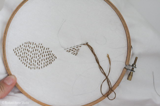 Free Leaf Embroidery Pattern | Radiant Home Studio
