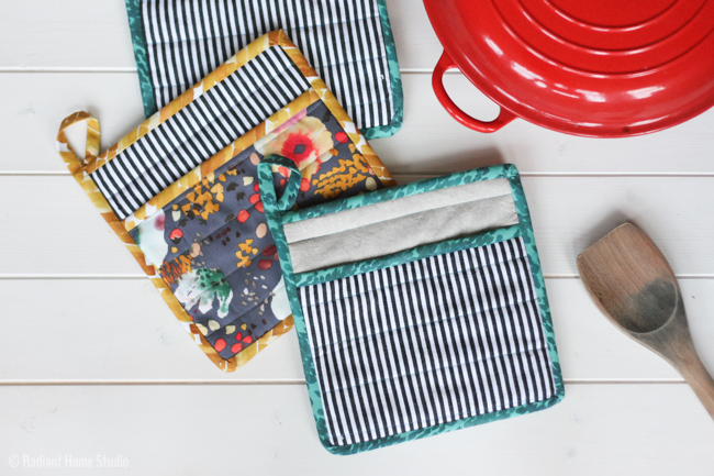 Learn How to Sew a Simple Potholder | Radiant Home Studio