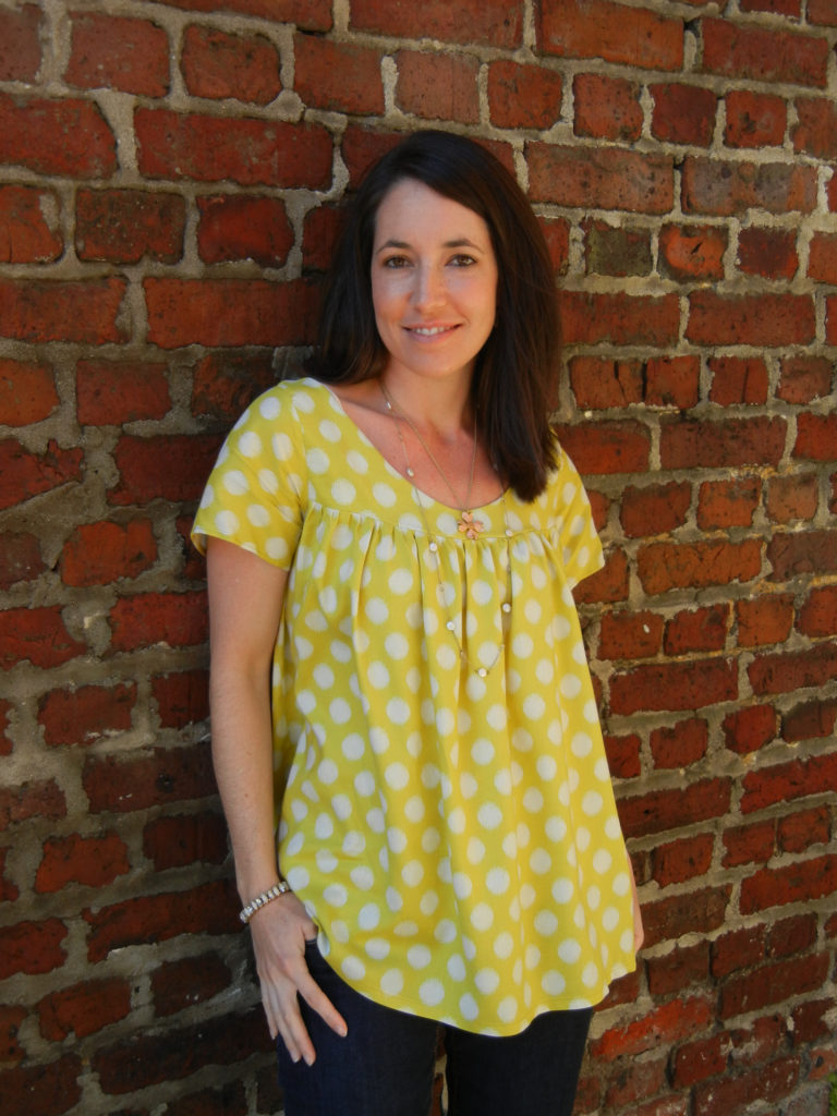 5 Flowing Blouses to Sew | Voilá Blouse by Cali Faye | sewn by Sew Charleston | Radiant Home Studio