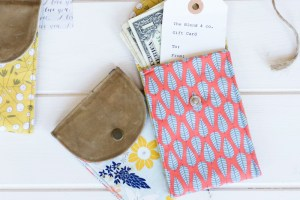 How to Make a Waxed Canvas Gift Pouch
