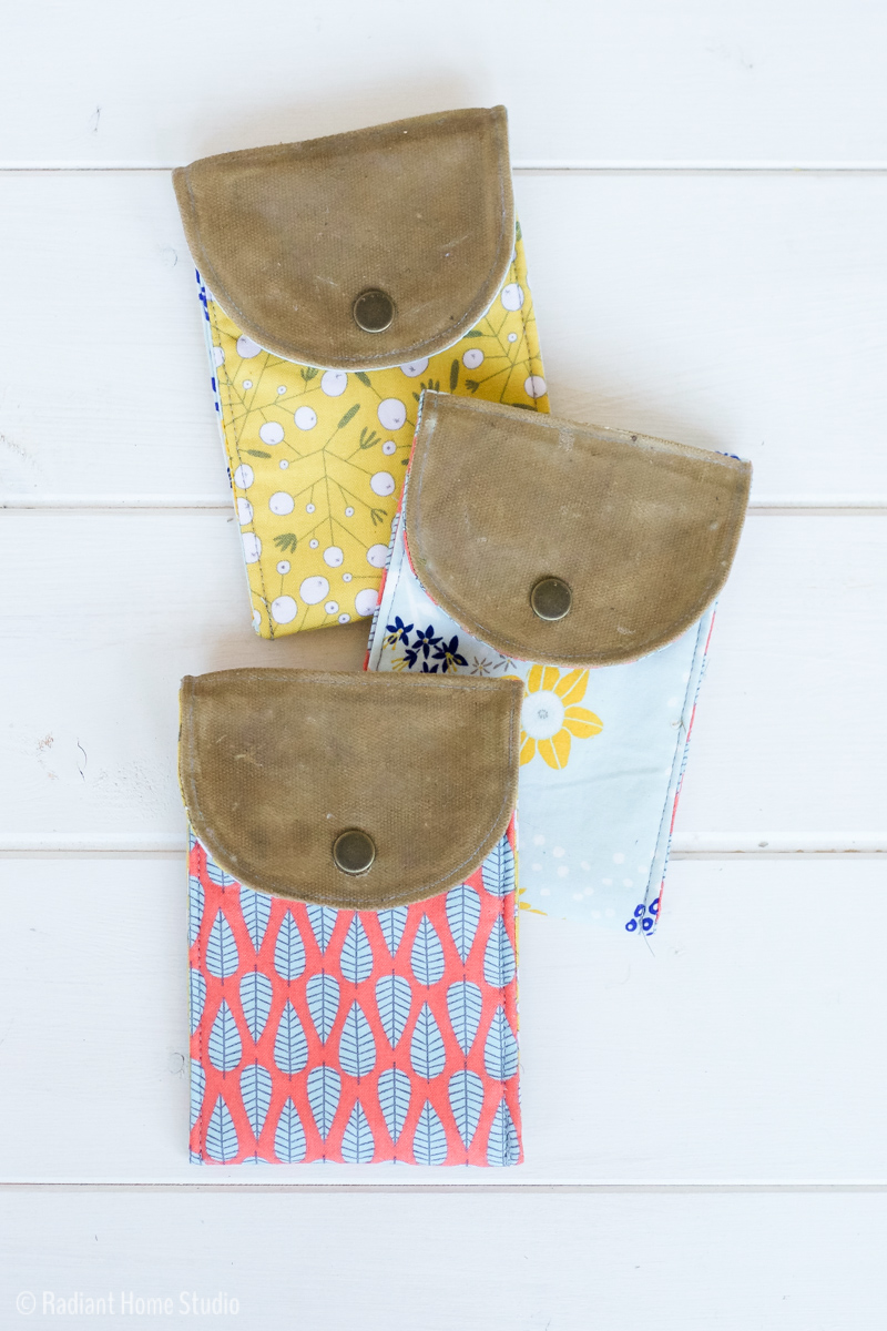 How to Make A Waxed Canvas Gift Pouch | Radiant Home Studio