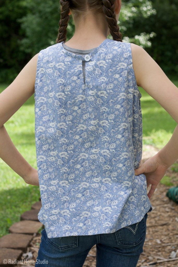 Sewing a Girls Woven Tank Top   Radiant Home Studio