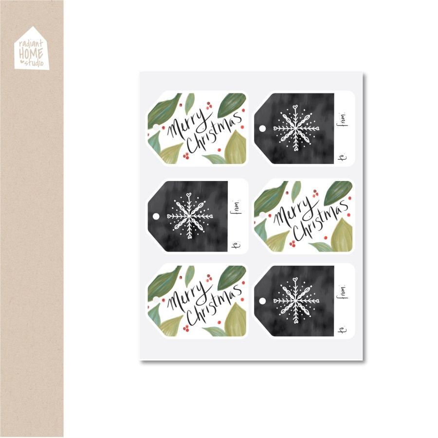 Free Farmhouse Christmas Printable Gift Tags | Radiant Home Studio