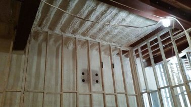 corrugated ceiling spray foam insulation - 1