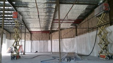 corrugated roof spray foam insulation - 1