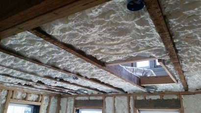 exterior walls & ceiling spray foam insulation - 2