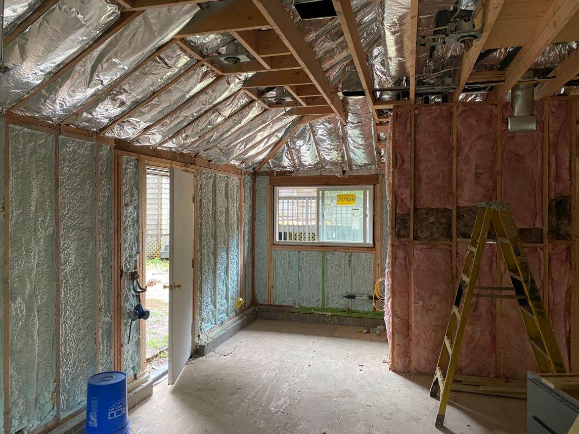 Hampton Bays insulation job after photo