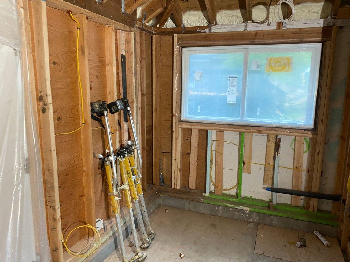 Hampton Bays insulation job before photo