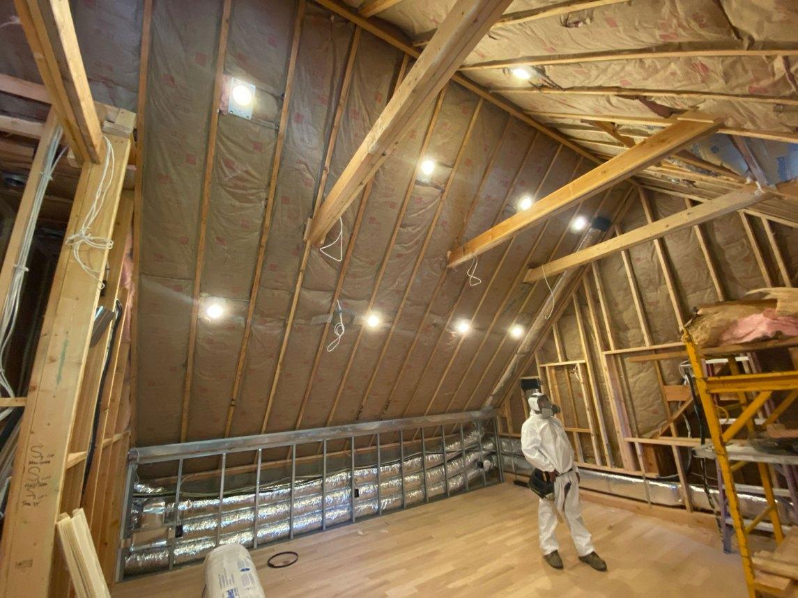 batt fiberglass insulation installation in Roslyn