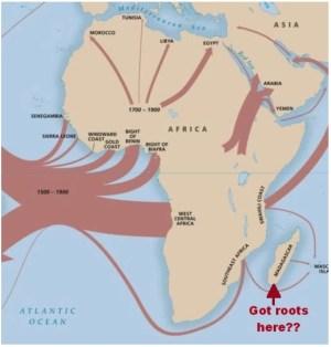 Map  of Madagascar Slave Trade