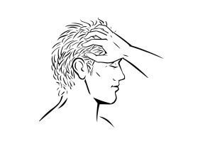 Rake the hair and massage the head Chinese acupressure massage