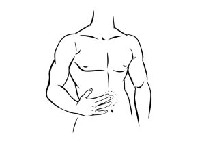 Circular massage of lower abdomen Chinese acupressure massageSweep down the arms Chinese acupressure massage