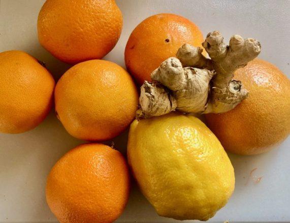 Citrus Ginger Millet Porridge oranges lemon and ginger phlegm damp recipe
