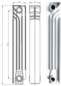 Биметаллический радиатор ASB