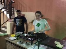 Learning how to make coconut & onion sambol, that's traditionally eaten inside egg hoppers.