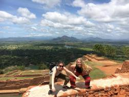 Us two at the top of Sigiriya Rock being a pair of idiots. Unbelievable views.