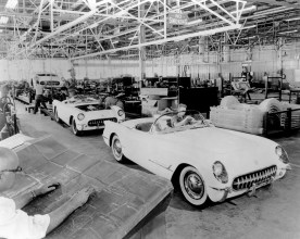 The first Corvettes produced in Flint, Michigan on June 30, 1953