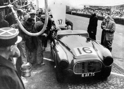 Chassis 0116/A in the pits at Le Mans 1951.