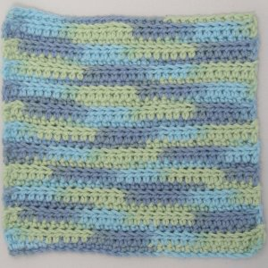 BlueGreenCrochetCloth