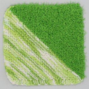 Knit Green Half Half Cloth