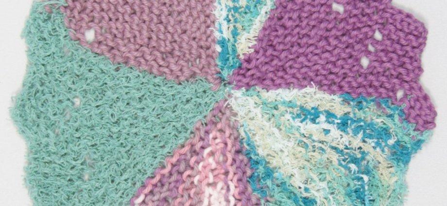 Purple_Green_Flower_Swirl knit cloth