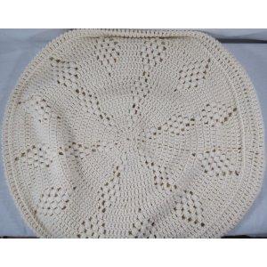 White Crochet round Pillow case