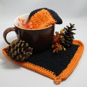 Staged Rustic Crochet Cloths