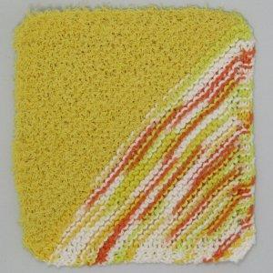 Yellow Sunburst Half Half Knit Cloth